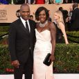 Viola Davis et son mari Julius Tennon - Tapis rouge de la 23e soirée annuelle Screen Actors Guild awards au Shrine auditorium à Los Angeles, le 29 janvier 2017 @ Chris Delmas/Bestimage