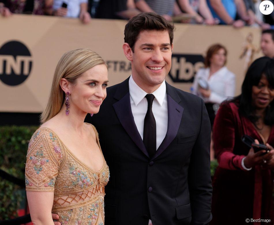 Super 23E Cérémonie Des Screen Actors Guild Awards emily blunt et son mari john krasinski - tapis rouge de la 23e