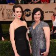 Sarah Paulson et Marcia Clarke - Tapis rouge de la 23e soirée annuelle Screen Actors Guild awards au Shrine auditorium à Los Angeles, le 29 janvier 2017 @ Chris Delmas/Bestimage