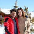 Jamel Debbouze et sa femme Mélissa Theuriau au 20ème festival du film de comédie de l'Alpe d'Huez le 20 janvier 2017.