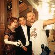 James Cameron sur le tournage de Titanic avec Kate Winslet et Leonardo DiCaprio.