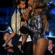 Blue Ivy, Jay Z et Beyoncé aux MTV Video Music Awards 2014 au Forum à Inglewood. Los Angeles, août 2014.