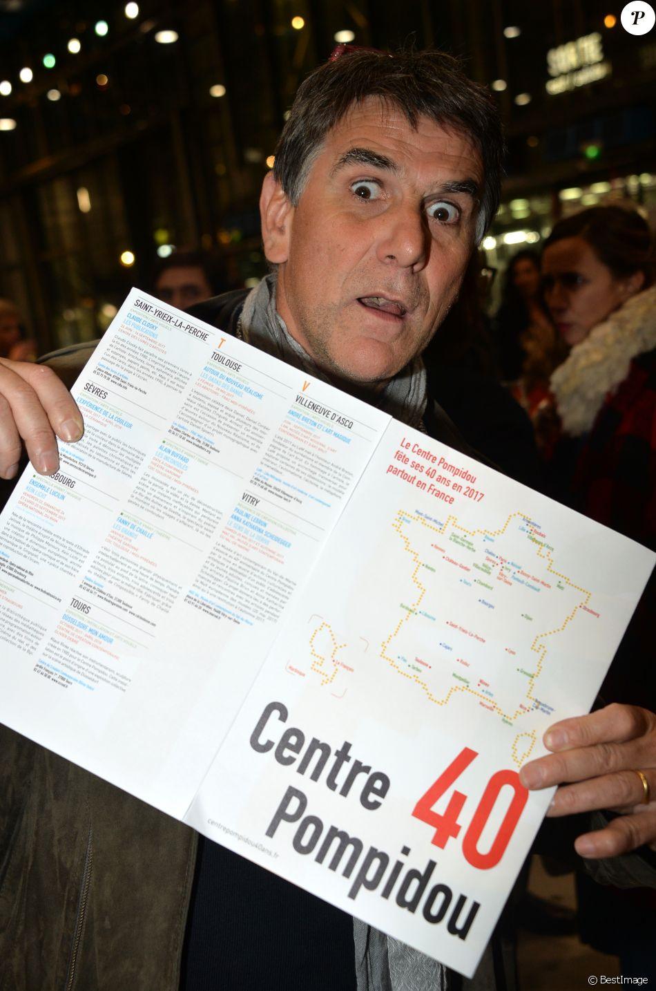 Tex - Cocktail pour les 40 ans du Centre Georges Pompidou au centre Pompidou à Paris, France, le 10 janvier 2017. © Veeren/Bestimage