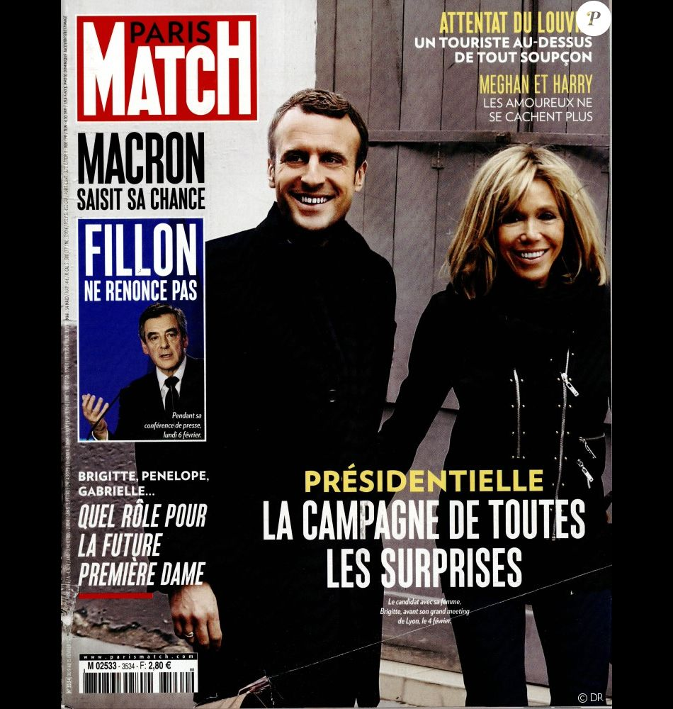 couverture du magazine paris match en kiosques le 9 f vrier 2017 purepeople. Black Bedroom Furniture Sets. Home Design Ideas