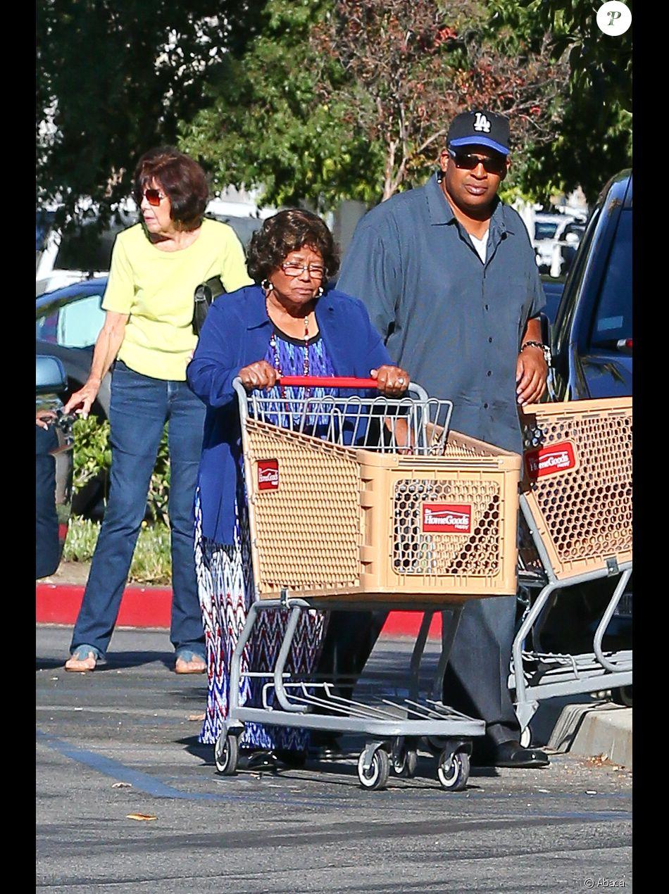 Katherine Jackson et Trent Lamar Jackson à Los Angeles, le 1er octobre 2014