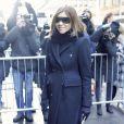 """Carine Roitfeld-Défilé """"Calvin Klein"""", collections prêt-à-porter et homme automne 2017, à la Fashion Week de New York. Le 10 février 2017."""