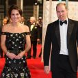 Le prince William et Catherine Kate Middleton, la duchesse de Cambridge arrivent à la cérémonie des British Academy Film Awards (BAFTA) au Royal Albert Hall à Londres, le 12 février 2017.