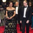 Le prince William et Kate Middleton, la duchesse de Cambridge arrivent à la cérémonie des British Academy Film Awards (BAFTA) au Royal Albert Hall à Londres, le 12 février 2017.