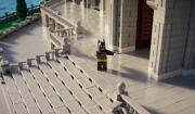 Extrait de Lego Batman dans lequel Bruce Wayne nous ouvre les portes de son manoir à la manière d'une star hollywoodienne.