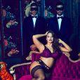 Ashley Graham pose pour la collection de lingerie qu'elle a dessinée pour la marque 'Addition Elle'. Janvier 2017.