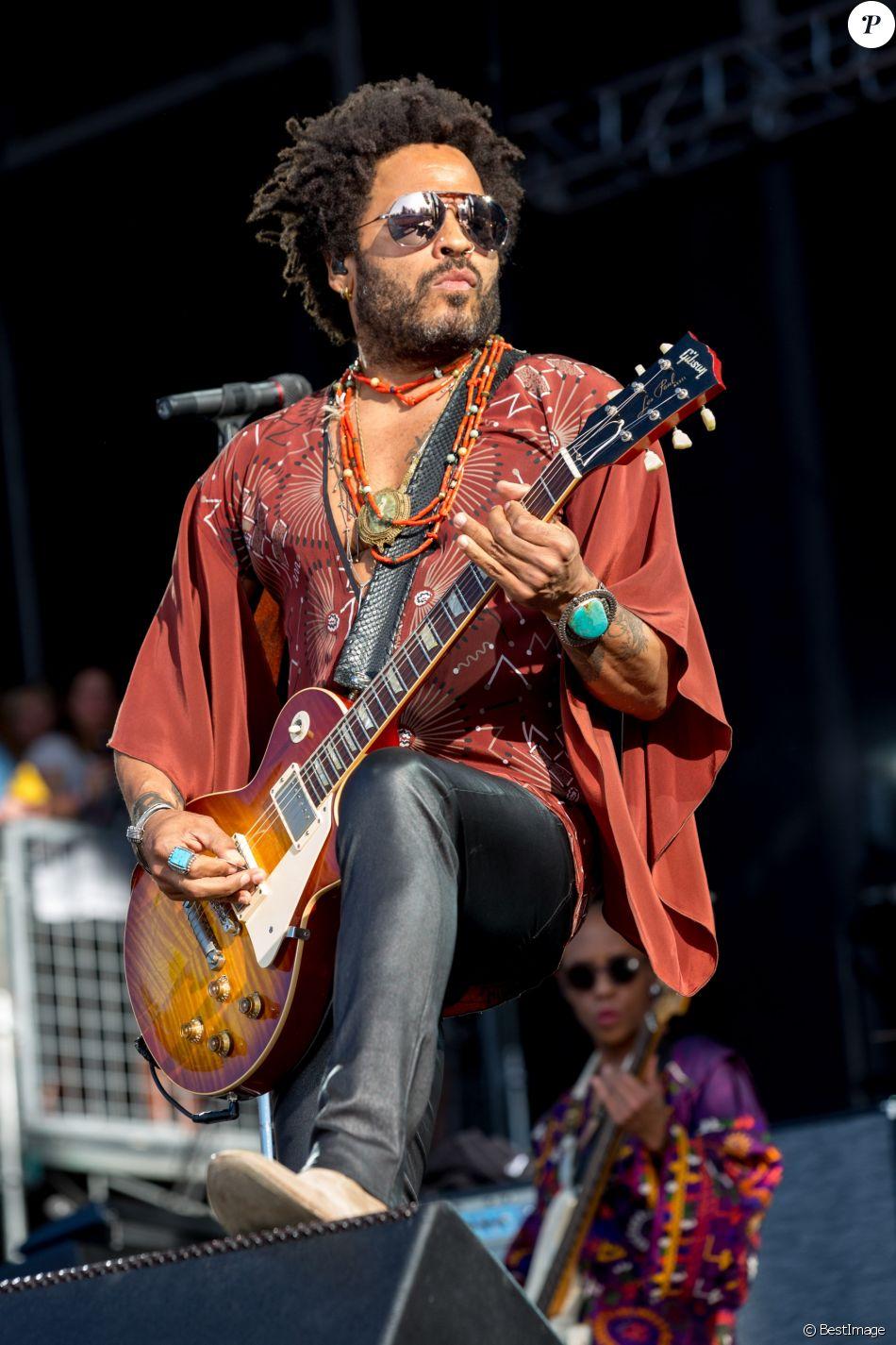 Lenny Kravitz en concert lors du Festival de musique de BottleRock à Napa en Californie, le 27 mai 2016 © Daniel DeSlover via Bestimage