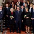 Le roi Albert II et la reine Paola de Belgique entourés du prince Laurent, de la princesse Astrid et du prince Lorenz lors de la Fête du Roi, le 15 novembre 2016