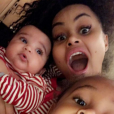 Blac Chyna avec sa fille Dream et son fils King Cairo (5 février 2017).