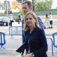 L'infante Cristina d'Espagne et son mari Inaki Urdangarin arrivent au tribunal de Palma de Majorque le 14 juin 2016 vers la fin du procès de l'affaire Noos.
