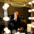 "Exclusif - Gad Elmaleh dans la loge après le spectacle ""Oh My Gad"" au ""Carnegie Hall"" à New York City, New York, Etats-Unis, le 11 février 2017. © Domique Jacovides/Bestimage"
