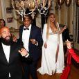 Beyoncé, Jay Z, Kelly Rowland après la cérémonie des Grammy Awards, à Los Angeles, le 12 février 2017.