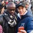 """Lilian Thuram - Manifestation en marge de l'affaire Théo : 2 300 personnes ont manifesté à Paris pour dénoncer """"les violences policières"""" place de la république le 18 février 2017. © Lionel Urman / Bestimage"""