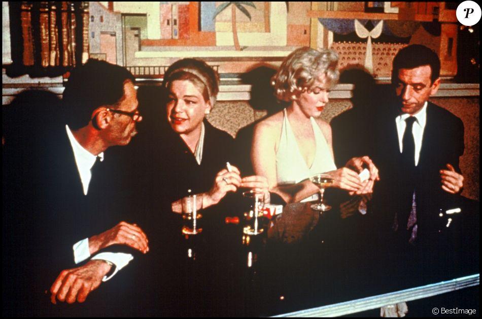 Arthur Miller, Marilyn Monroe, Simone Signoret et Yves Montand (photo d'archive)