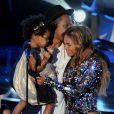 Blue Ivy, Jay Z et Beyoncé aux MTV Video Music Awards 2014.