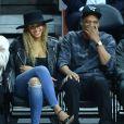 Beyoncé et Jay Z au Staples Center à Los Angeles, le 3 mars 2016.