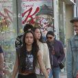 Chris Brown et sa petite-amie Karrueche Tran dans les rues de Los Angeles, le 4 décembre 2011.