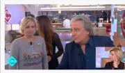 """Anne-Elizabeth Lemoine snobée par Christian Clavier dans """"C à vous"""" (France 5), le 21 février 2017."""