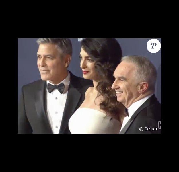 Amal et George Clooney arrivant aux César à Paris le 24 février 2017