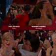 Viola Davis remporte l'Oscar de la meilleure actrice dans un second rôle pour Fences. Il lui a été remis par Mark Rylance - 26 février 2017