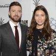 Jessica Biel et son mari Justin Timberlake lors de la première de ''The Book of Love'' à Los Angeles, Californie, Etats-Unis, le 11 janvier 2017. © Billy Bennight/The Photo Access/Zuma Press/Bestimage