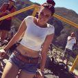 """""""Delphine Wespiser à Cape Town, en Afrique du Sud. Photos publiées sur Twitter le 27 février 2017."""""""