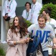 Elisa Tovati et son mari Sébastien Saussez - People au village des Internationaux de France de tennis de Roland Garros à Paris, le 30 mai 2014.