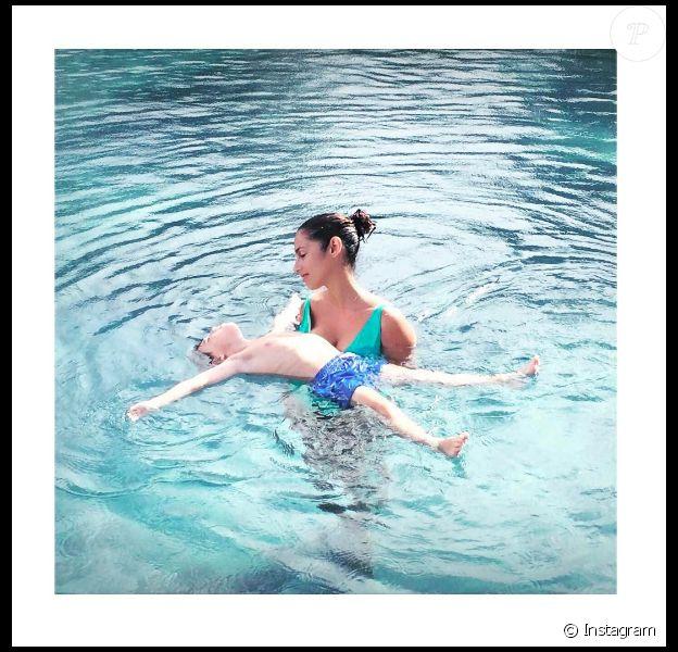 Elisa Tovati et son fils Léo sur une photo publiée le 1er mars 2017 sur Instagram