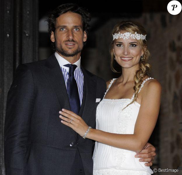 Feliciano Lopez et Alba Carrillo le jour de leur mariage à Tolède le 17 juillet 2015. Onze mois plus tard, leur divorce était annoncé...