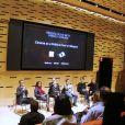"""Bertrand Bonello, Emmanuelle Bercot - Conférence """"The World Political Turmoils, the position of filmmakers"""" lors du 3ème jour du Festival """"Rendez-vous with French cinema"""" à New York le 3 mars 2017."""