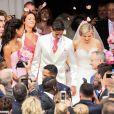 Mariage de Raphaël Varane et Camille Tytgat à la mairie du Touquet puis en l'église Sainte-Jeanne d'Arc le 20 juin 2015