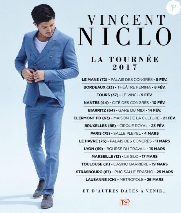Vincent Niclo en concert dans toute la France, en 2017