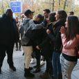 Exclusif - Justin Bieber rencontre des fans avant son concert à Zagreb. Croatie, le 11 novembre 2016.