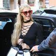 Paris Hilton fait les boutiques à Los Angeles, le 22 février 2017