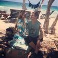 Paris Hilton et son amoureux Chris Zylka en vacances à Tulum - Photo publiée sur Instagram le 12 mars 2017
