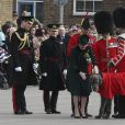 Le prince William et la duchesse Catherine de Cambridge assistaient à la parade de la Saint-Patrick avec le régiment des Irish Guards aux Cavalry Barracks du régiment des Irish Guards à Hounslow, dans l'ouest de Londres, le 17 mars 2017.