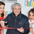 Elsa Zylberstein, Claude Lelouch et Alice Belaïdi lors du lancement du 18ème Printemps du Cinéma au cinéma Pathé Beaugrenelle à Paris, France, le 19 mars 2017. © Coadic Guirec/bestimage