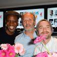 Abd al Malik, Hippolyte Girardot et Guillaume Gouix lors du lancement du 18ème Printemps du Cinéma au cinéma Pathé Beaugrenelle à Paris, France, le 19 mars 2017. © Coadic Guirec/bestimage