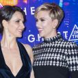 "Juliette Binoche et Scarlett Johansson - Avant-première du film ""Ghost in the Shell"" au Grand Rex à Paris, le 21 mars 2017. © Olivier Borde/Bestimage"