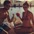 Jo-Wilfried Tsonga fête la nouvelle année avec sa compagne, Noura El Swekh, enceinte de leur premier enfant. Photo postée sur Instagram le 1er janvier 2017.