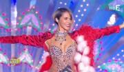 """Shy'm ultra sexy lors de la soirée """"Tous au Moulin-Rouge pour le Sidaction"""" diffusée le 25 mars 2017 sur France 2."""