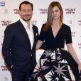 "Stefano Accorsi et sa femme Bianca Vitali - Première du film ""Veloce come il vento"" à Milan. Le 6 avril 2016"