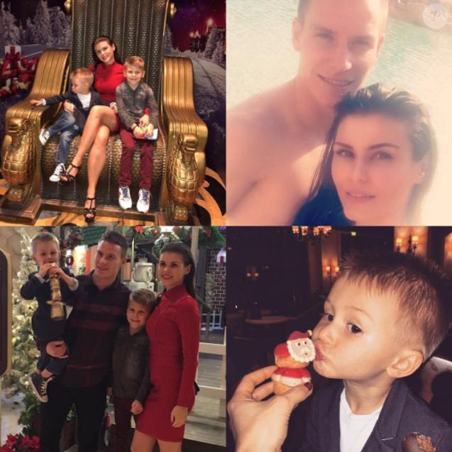 Kevin Gameiro, photomontage de ses vacances en famille à Dubai avec sa femme Lina et leurs deux garçons lors des fêtes de fin d'année 2016, photo Instagram.