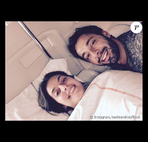 Laetitia Milot et son mari Badri à l'hôpital - Photo publiée sur Instagram le 25 mars 2017