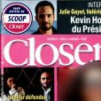 "Couverture du magazine ""Closer"" en kiosques le 31 mars 2017."