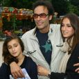 Anthony Delon avec ses filles Liv et Loup - Inauguration de la fete foraine des Tuileries a Paris Le 28 Juin 2013